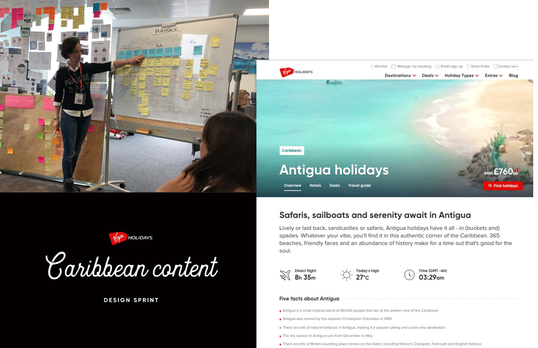 Virgin Holidays content strategy