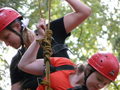 Girls on ropes