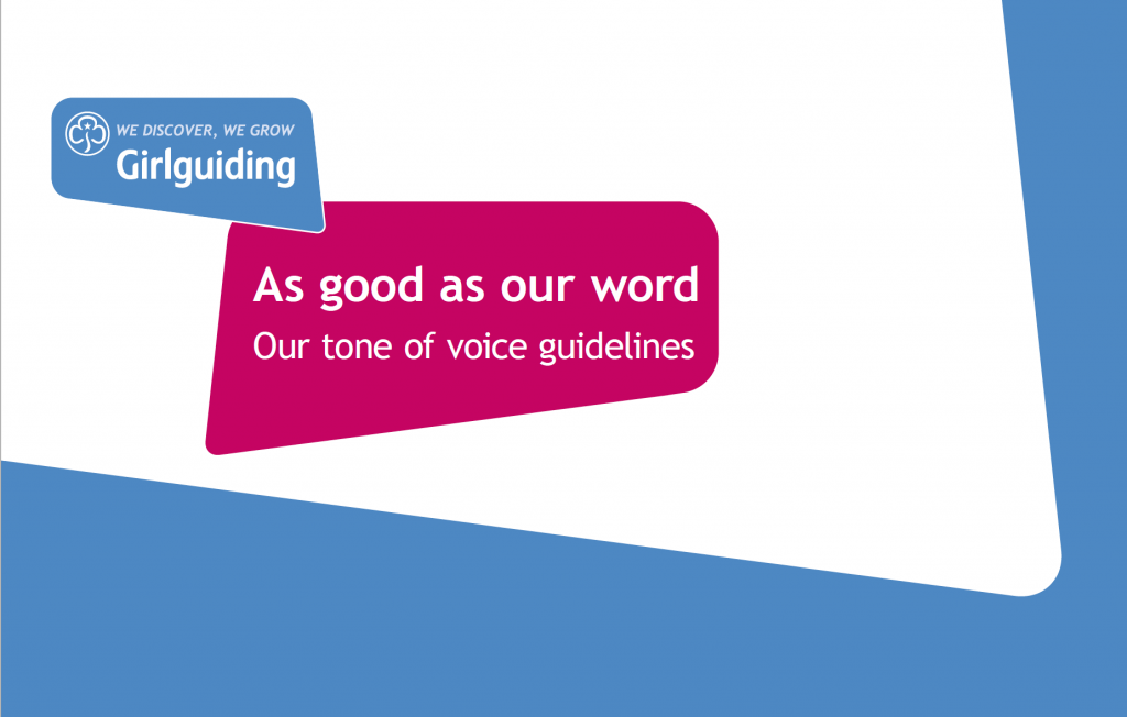 Girlguiding UK tone of voice guidelines